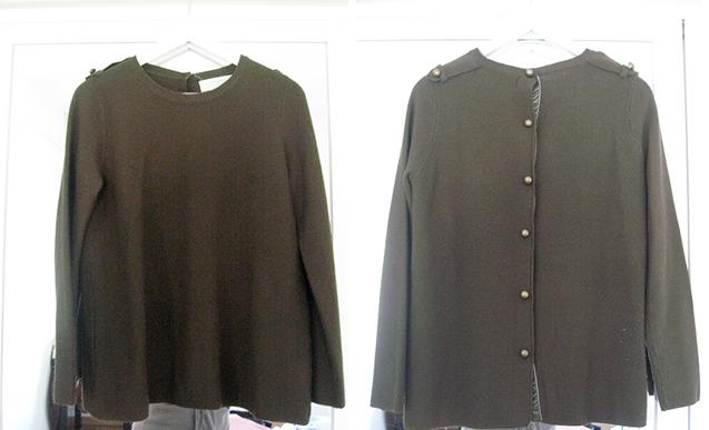 Jersey Zara verde, talla L
