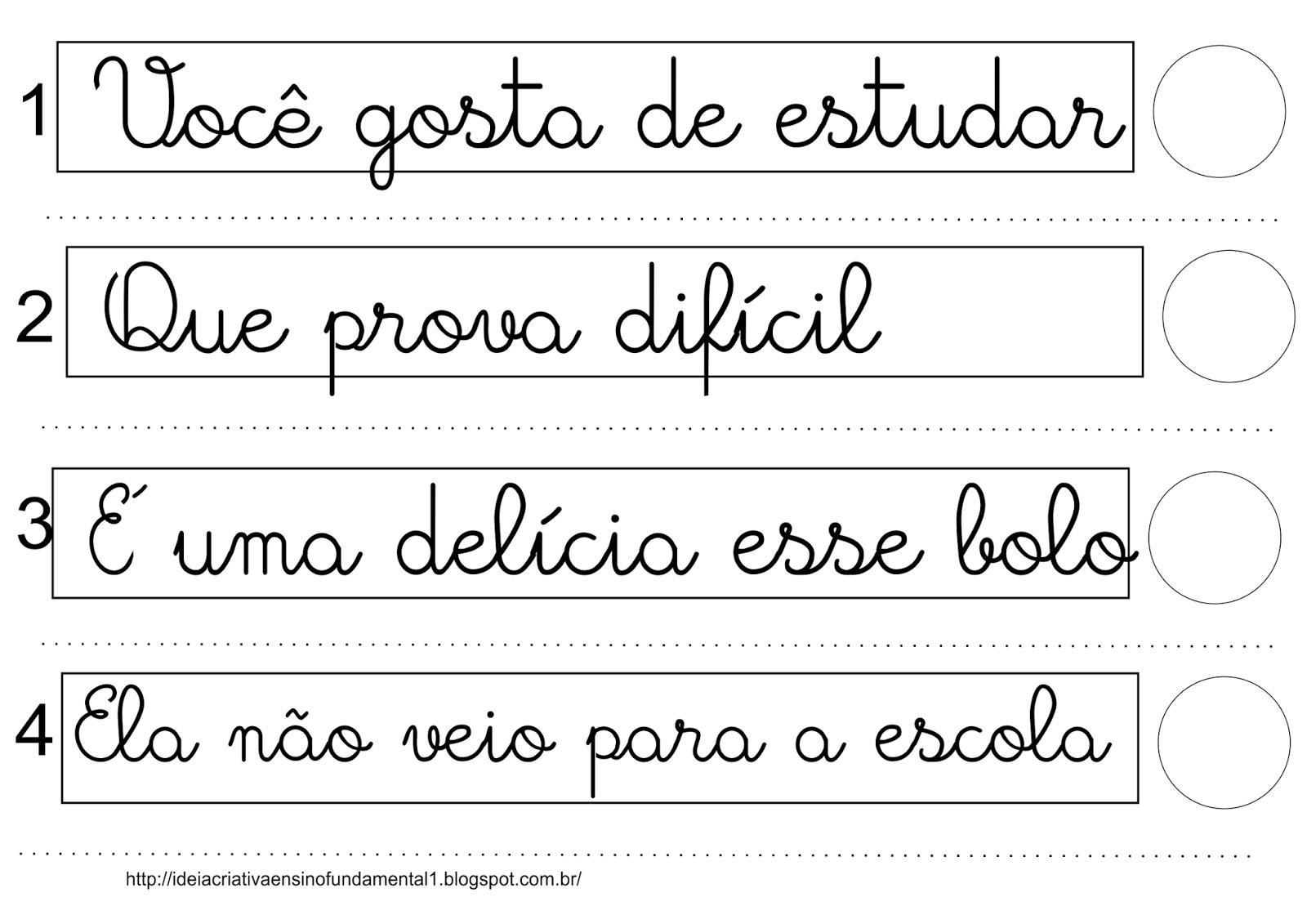 Jogo Pedagógico Tipos de Frase
