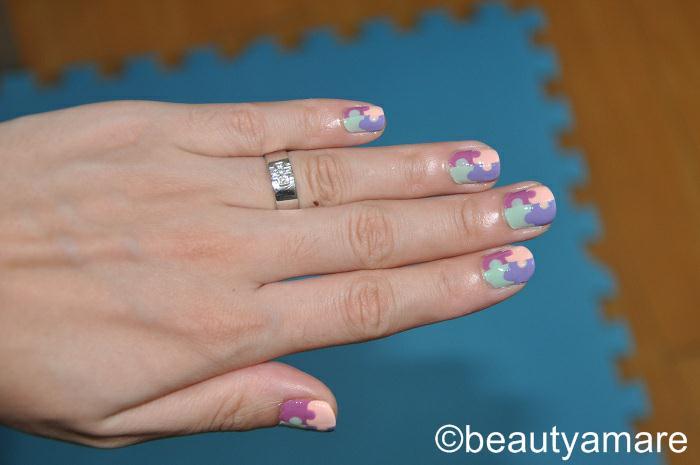beautyamare: Puzzle Mat Inspired Nail Art