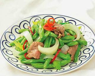 Món ăn ngon: Thịt bò xào đậu cove