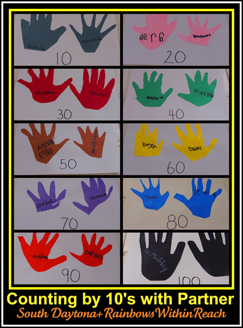 photo of: Counting by 10's at the 100 Day Party RoundUP via RainbowsWithinReach