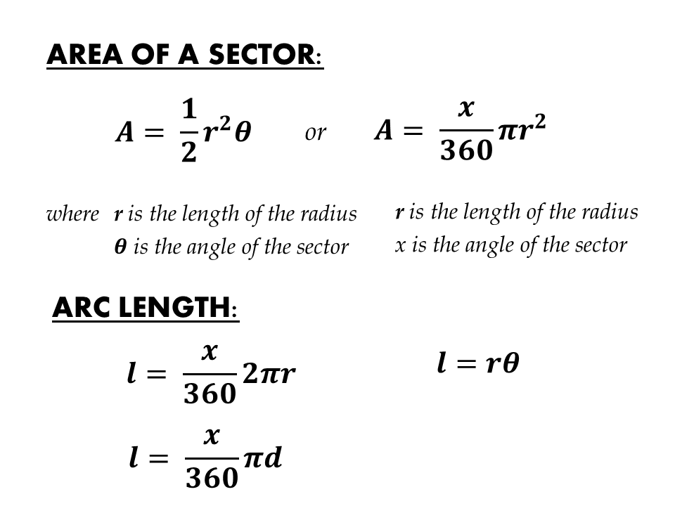 Circle Sector and Segment - Maths Resources - Math Is Fun