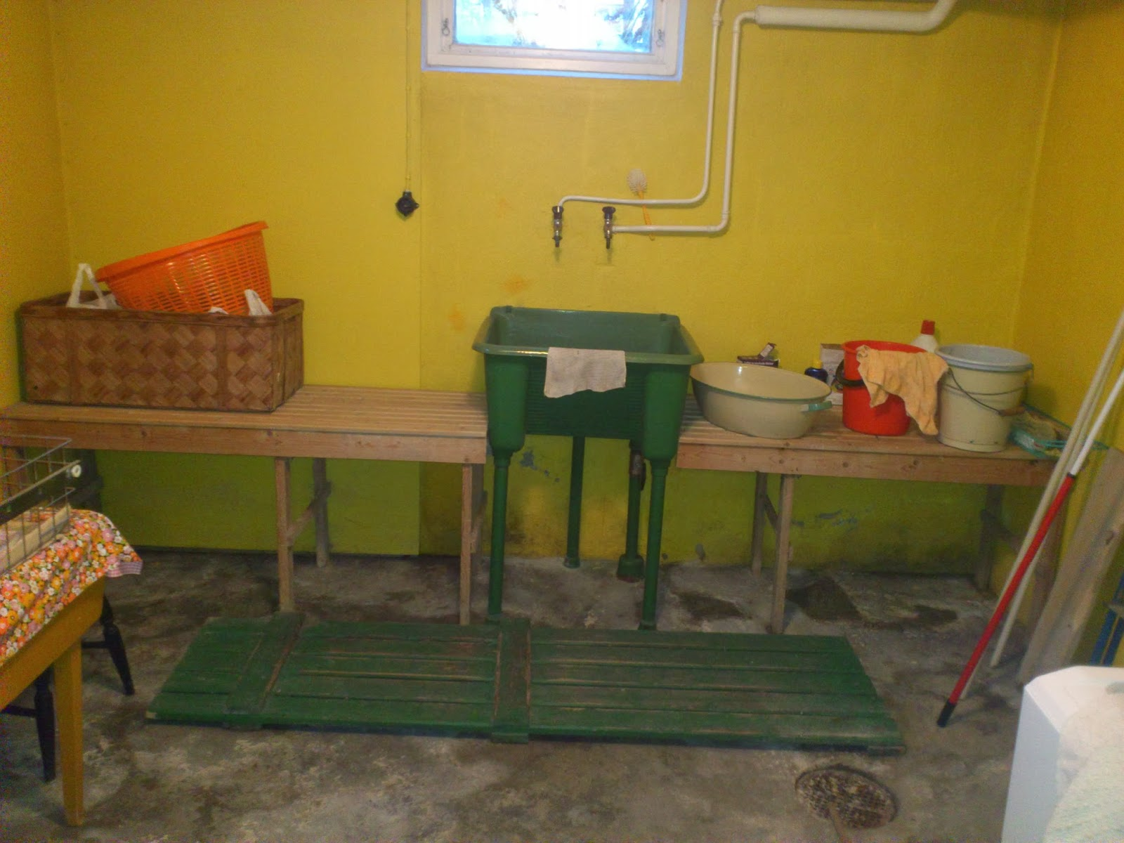 Hemmanet och vi: tvättstugan