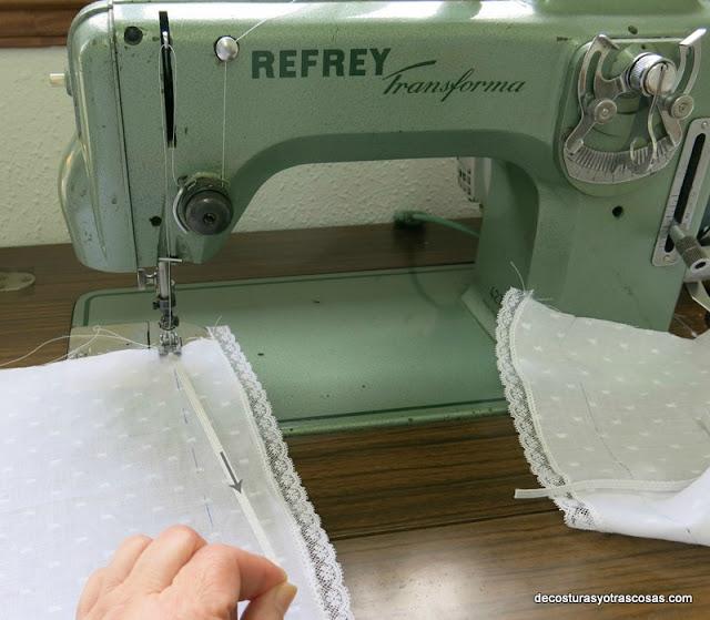 coser cinta elástica con zig-zag