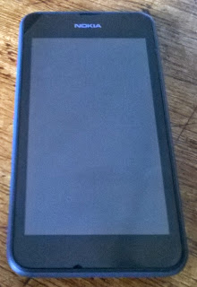 Nokia Lumia 530 front showing 4-inch display