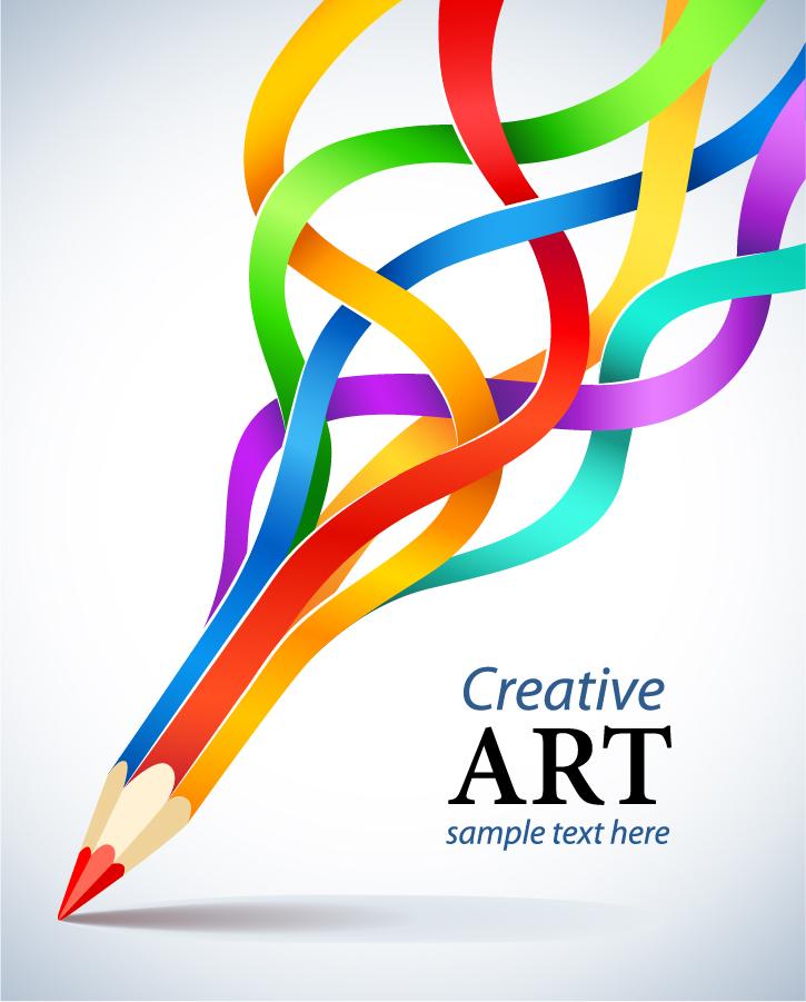 CMYKカラーの色鉛筆 CMYK color pencil vector イラスト素材