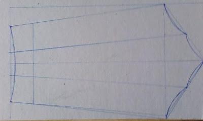 Dibujo de la pieza en el cartón