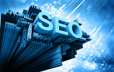 SEO Logo with Blue Background