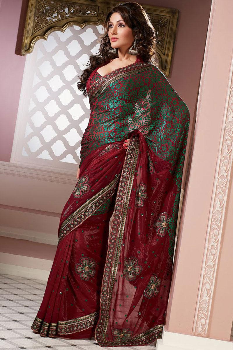 latest indian wedding sarees - photo #26