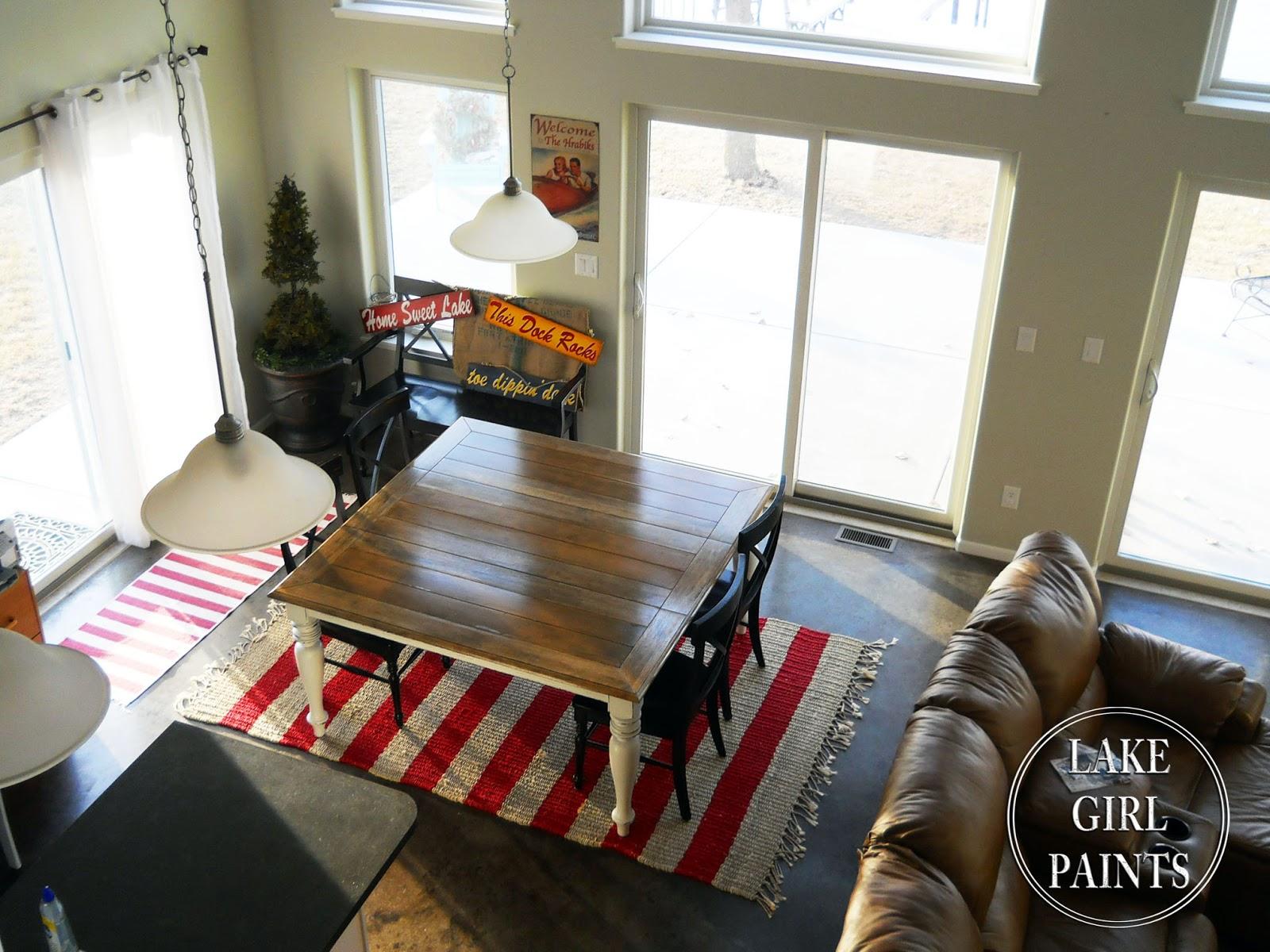 lake paints dining table black to farmhouse natural u0026 white