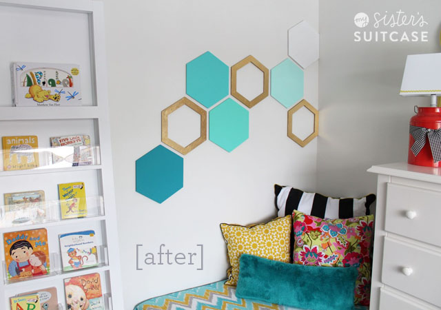 Elegant Hexagon Accent Wall