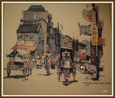 paintings which shows Petaling Street- KL ,Malaysia in 1915