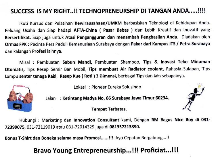 Kewirausahaan/UMKM berbasiskan Teknologi dan Inovasi Surabaya....