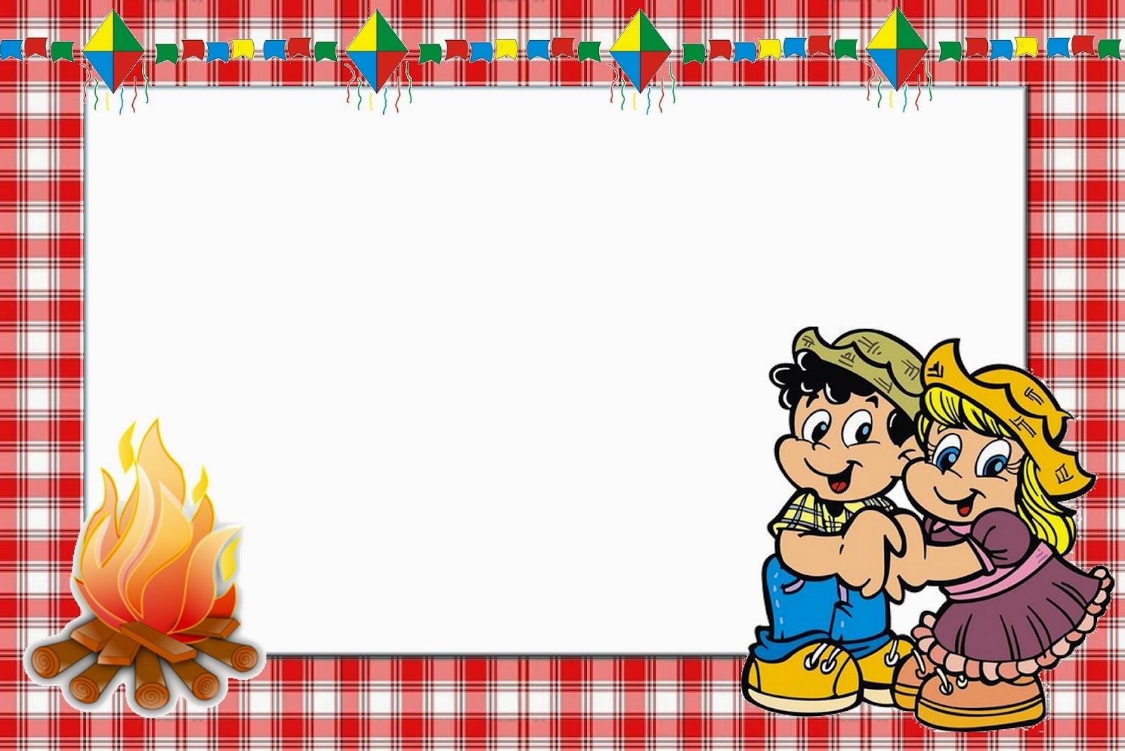 Jornal R 7ª Convite De Festa Junina Colorido E Para Colorir Grátis