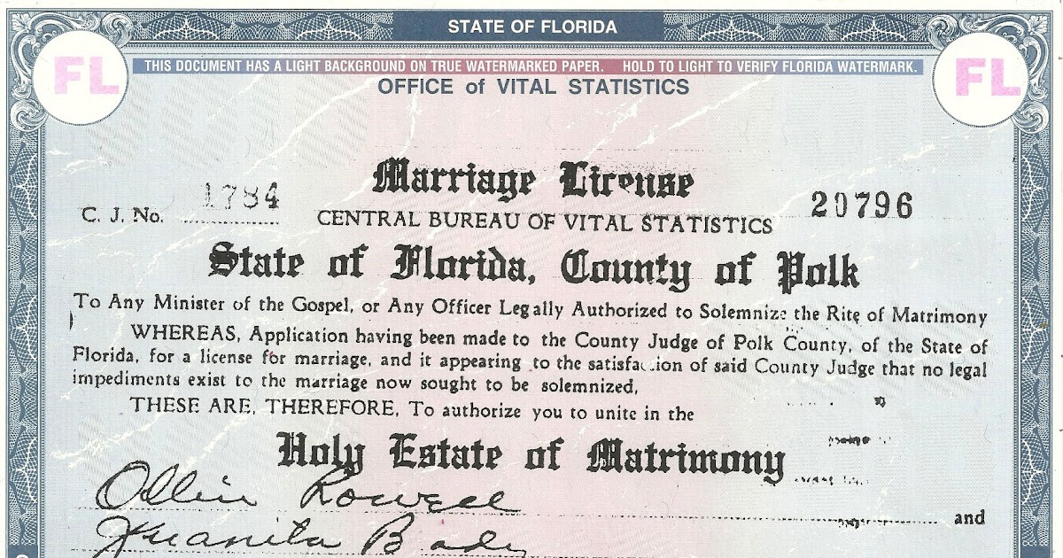 Salabencher: Juanita Brady State of Florida marriage and divorce records