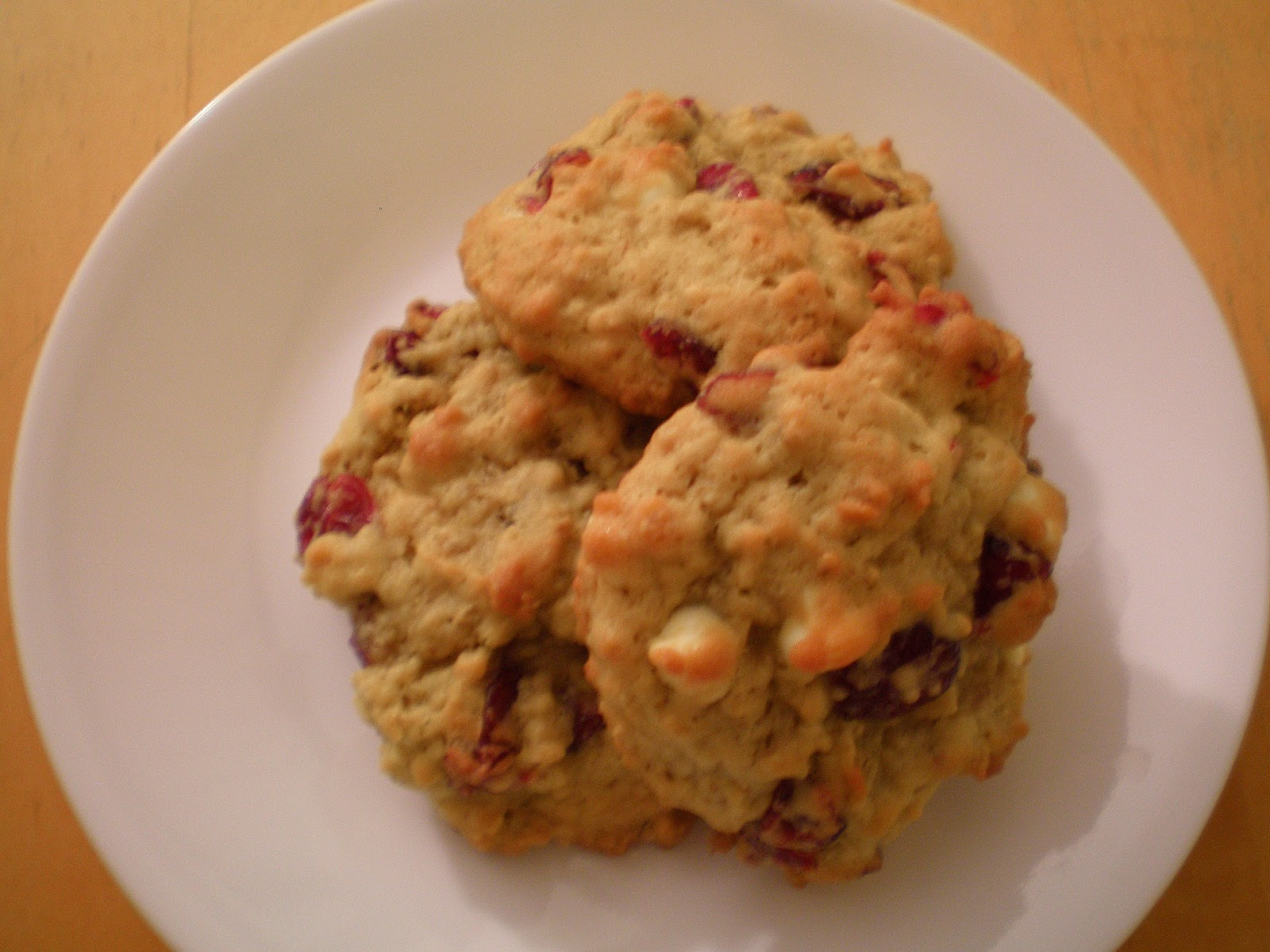Basil Development: Oatmeal Cranberry White Chocolate Chunk Cookies