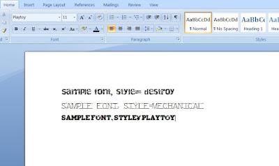 Cooltext Sample Font