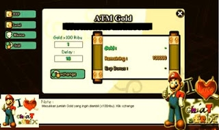 1 Hot Cheat Gold + ATM Exp Ninja Saga 2013