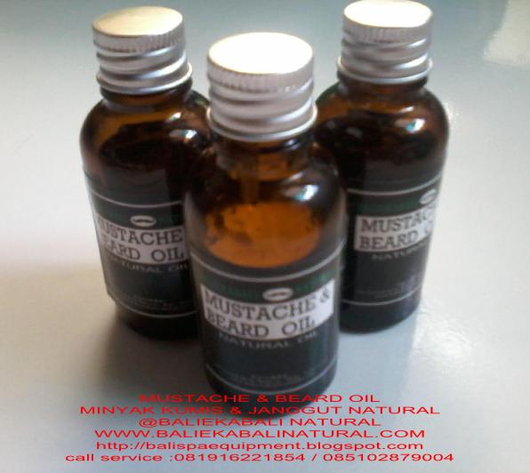 MUSTACHE & BEARD OIL NATURAL BALI Minyak untuk perawatan kumis dan janggut