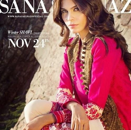 Sana Safinaz Winter Shawl Collection 2014
