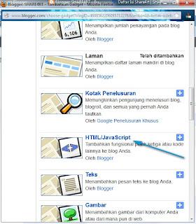 Tambahkan Gadget edit HTML