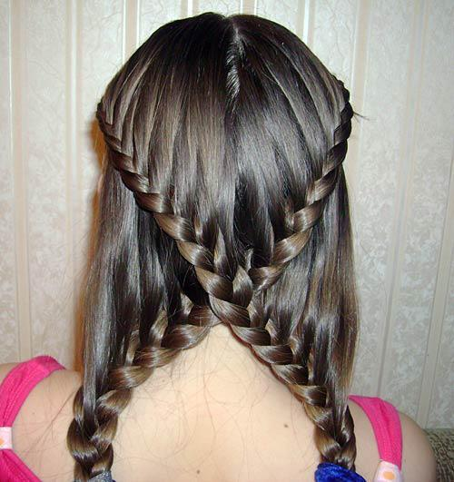 braids-bun-blonde-colored-purple-pink-maron-french-braid-flower-braid