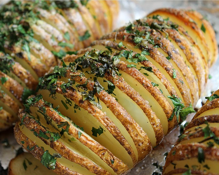 Картофель гармошка с сыром в духовке рецепт 128