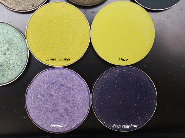 nyx money maker mac bitter coastal scents lavender deep eggplant eyeshadow