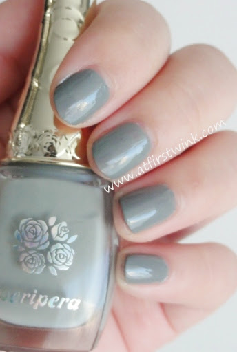 Peripera nail polish BK502 Modern Grey review