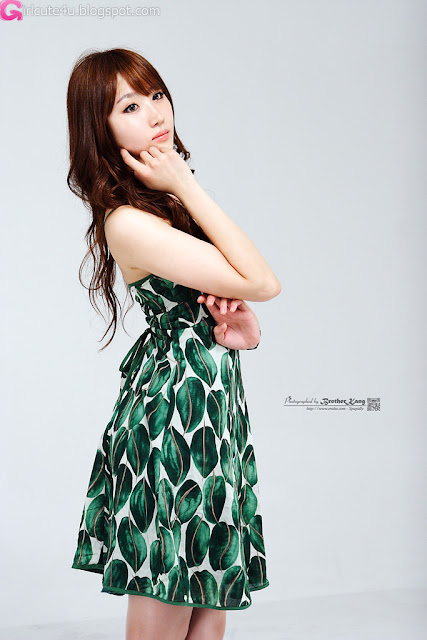 2 Yeon Da Bin in Green-very cute asian girl-girlcute4u.blogspot.com