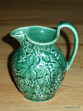 Wedgwood Barlaston Majolica Green Pitcher