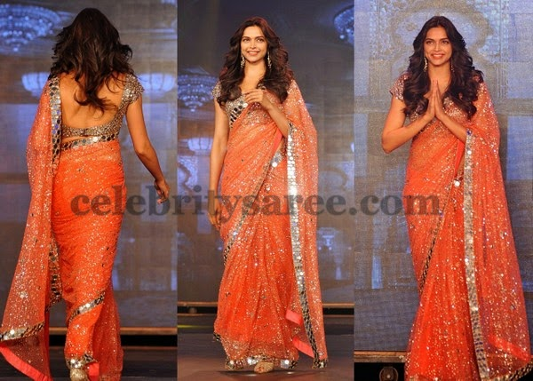 Deepika Padukune Glitter Saree