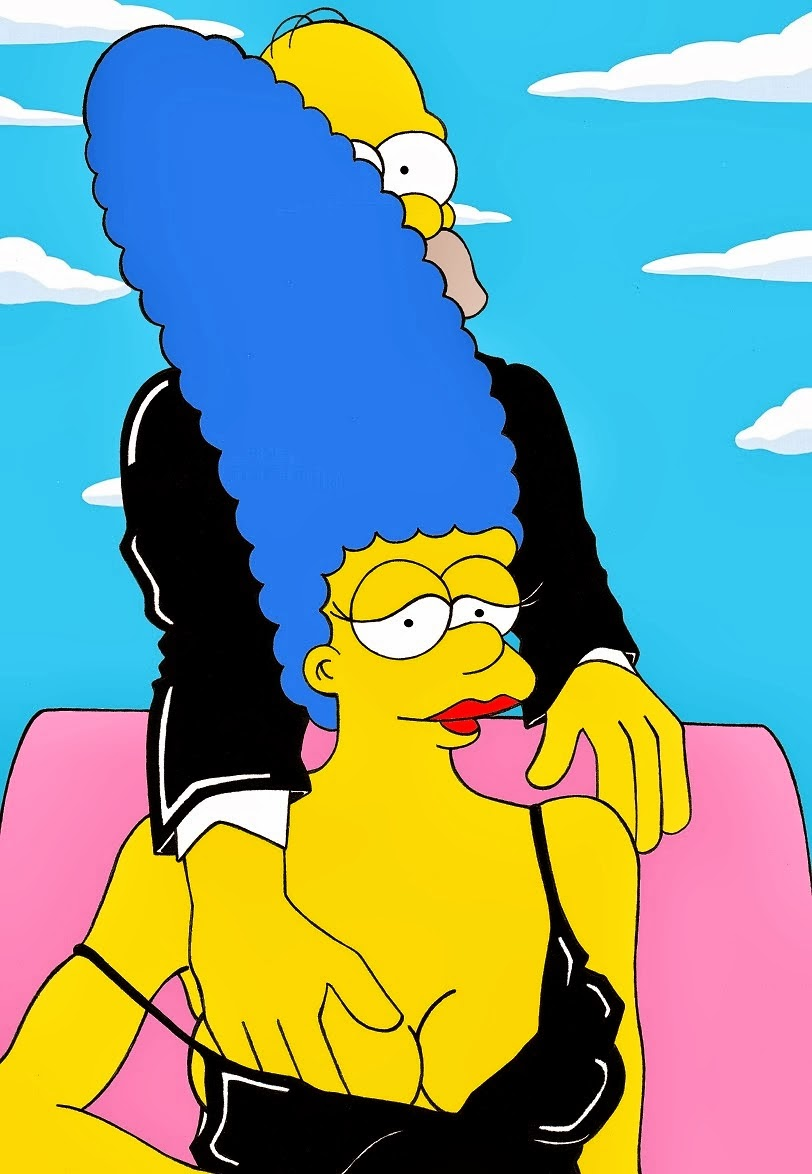 Homer And Marge Simpson The Erotic Iconic Shots Simpsons Helmut