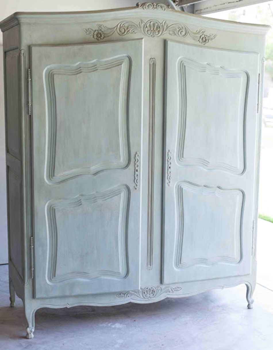 Refinished Antiqued Furniture French Chalk Painted Armoire