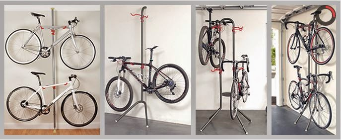 Leaning bike rack