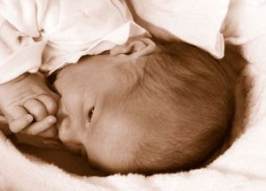 2 days old baby - Stock Photo credit: redfloor