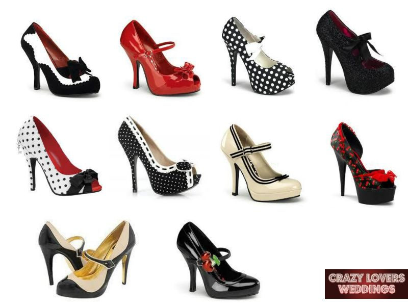 Crazy lovers weddings we do pin up - Zapatos collage ...