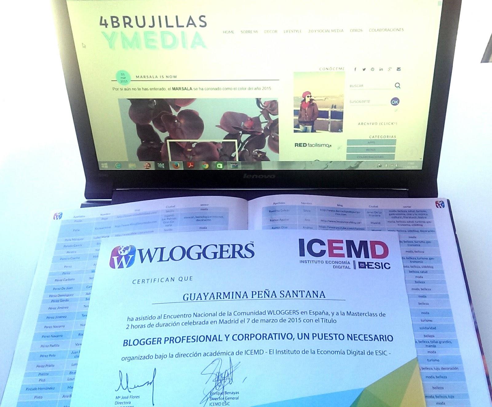 Wloggers 2015, certificado y directorio de blogs