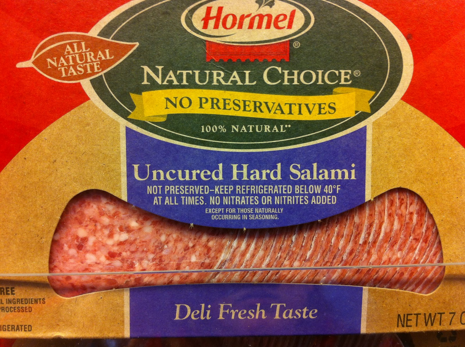 uncured salami package