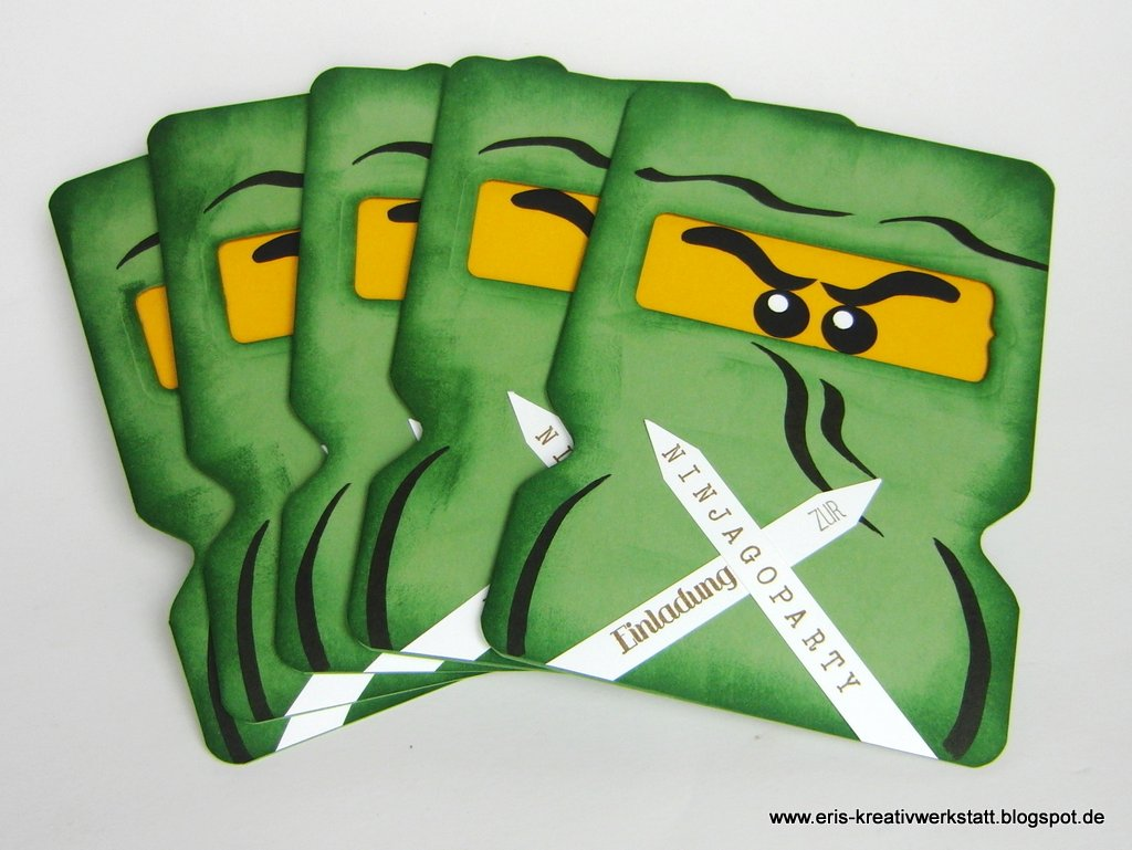 Ninjago Einladungskarten   Jetzt Auch In Grün, Weiß, Blau Und Gold