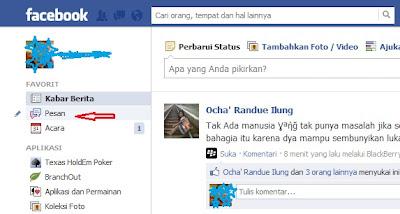 Pesan inbox facebook