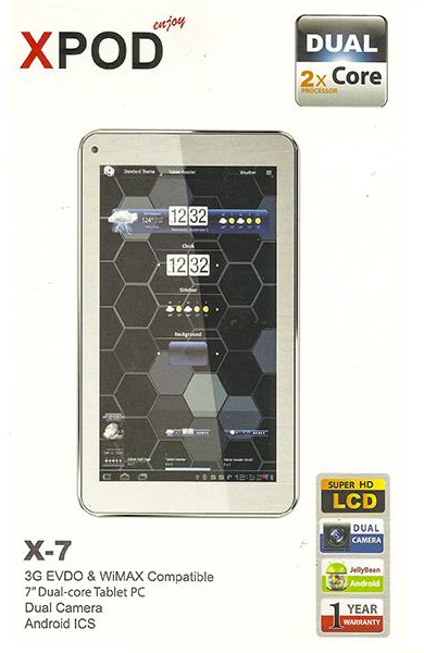 Xpod X-7 Tablet PC Price