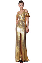 Gold Sequin Evening Dresses