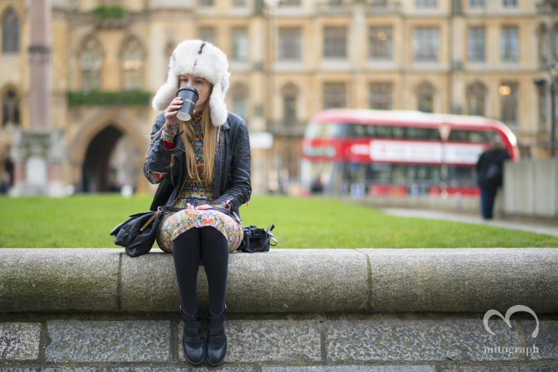 Blogger Marie Jensen at London Fashion Week LFW