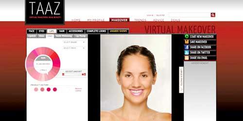 taaz maquillaje virtual