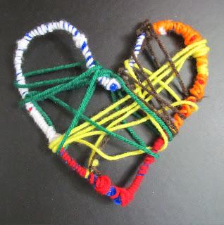 photo of: DIY Instructions for Heart Weavings in Kindergarten via RainbowsWithinReach