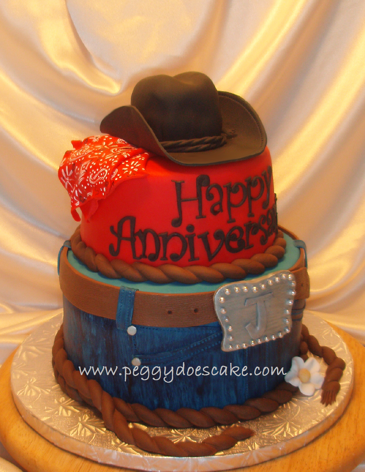 Peggy Does Cake Western Themed Anniversary Cake Click Photos To