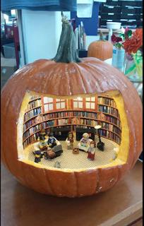 library pumpkin jack o'lantern image