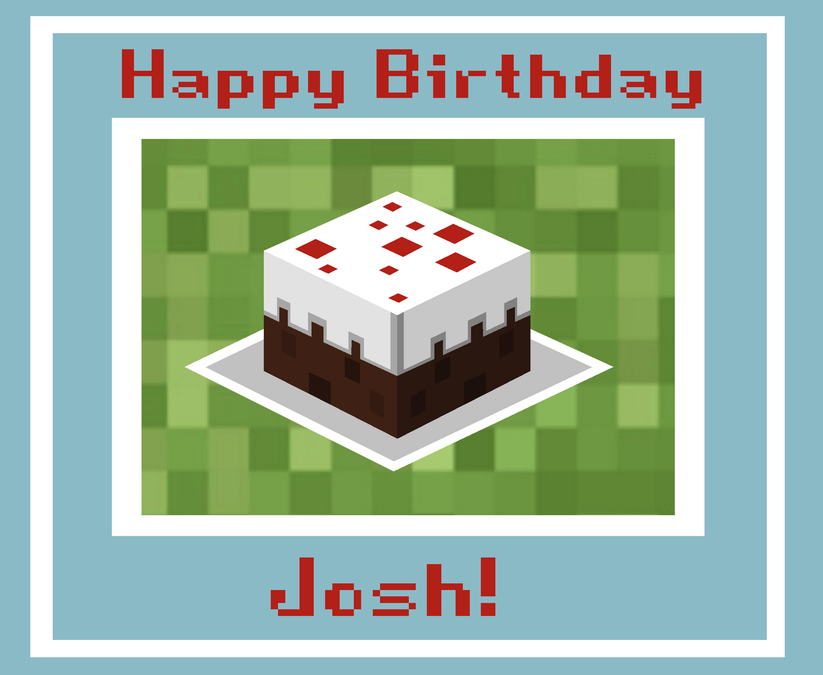 Seven Blue Orchids: Josh's Birthday Card