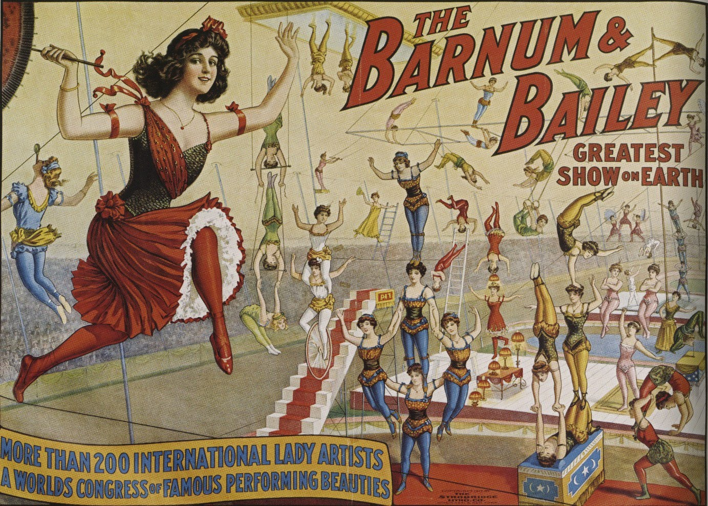 Poster design 19th century - Circus Poster Late 19th Century